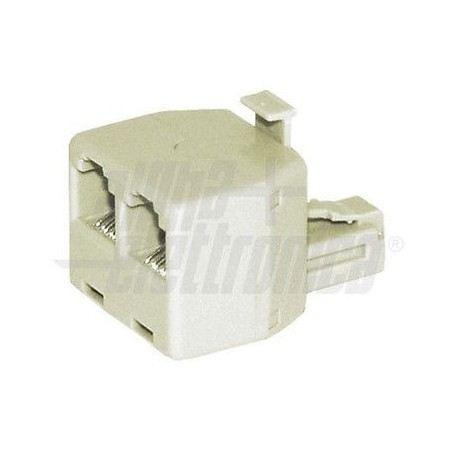 Adattatore telefonico modulare da spina a doppia presa 2x Modulare 6P4C 94-390SOVATEM