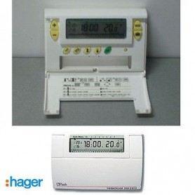 CRONOTERMOSTATO DIGITALE SETTIMANALE HAGER 56130 ECO PROG 7G BIANCO HAG56130HAGER