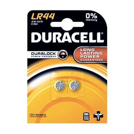 DURACELL LR44 2 BATTERIE ALCALINE 1,5V DU23DURACELL