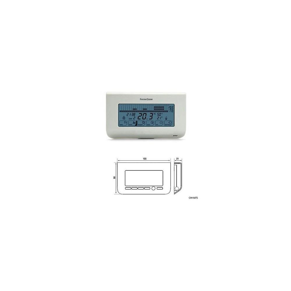 Cronotermostato touchscreen settimanale a batterie fantini for Cronotermostato fantini cosmi