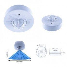 Sensore rilevatore movimento ad infrarossi da soffitto incasso 360° raggio 8 mt 23-102SOVATEM