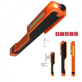TORCIA LED WORK CLIP LIGHT AD ALTA LUMINOSITA' CON CALAMITA EL010