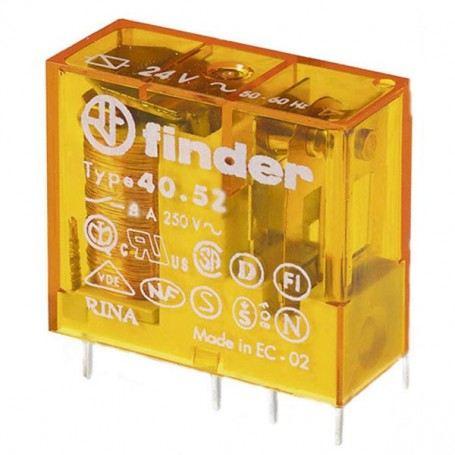 FINDER MINIRELE' 40.52.8.012 CON CIRCUITO STAMPATO 2 SCAMBI 8A FIN40528012FINDER