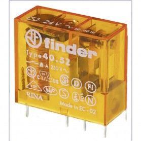 FINDER MINIRELE' 40.52.8.230 CON CIRCUITO STAMPATO 2 SCAMBI 8A FIN40528230FINDER