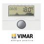 CRONOTERMOSTATO DIGITALE VIMAR 01910 DA PARETE BIANCO A BATTERIE VIW01910VIMAR