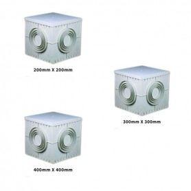 Pozzetto derivazione elettrico con coperchio in plastica 20x20-30x30-40x40cm 2020-30-40SOVATEM