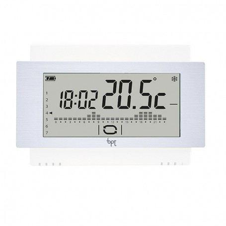 Cronotermostato BPT TH500WH 69400190 Touch Screen Parete Settimanale a batteria 69400190BPT