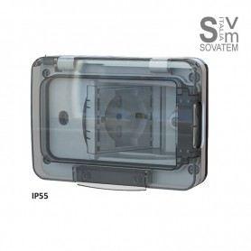 Scatola da Incasso Tipo 503 con Schuko Bivalente 4Box 4B.W.RAL.015 Wide Ip55 4BX4BWRAL0154BOX