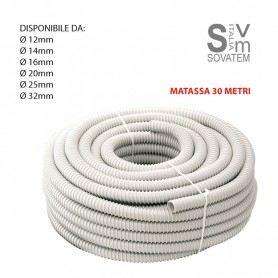 GUAINA FLESSIBILE SPIRALATA DIFLEX PVC DA Ø12-14-16-20-25-35mm ROTOLO 30 METRI GUAINAGEWISS