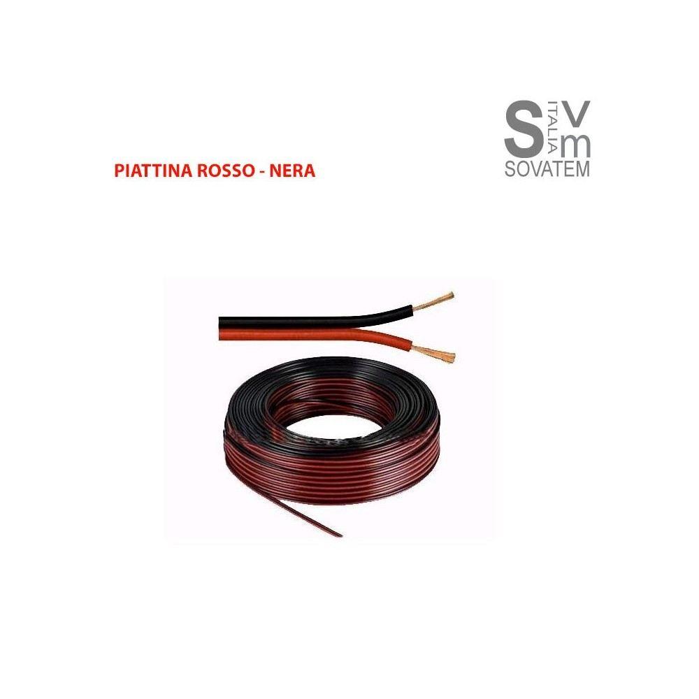 Cavo audio piattina rosso nero per casse audio casa auto - Casse audio per casa ...