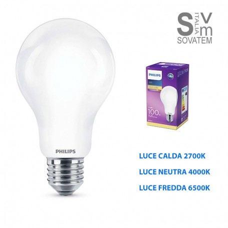 LAMPADA LED PHILIPS ATTACCO E27 LED CLASSIC 11,5 W A67 LUCE CALDA-NEUTRA-BIANCA PHIINCALEDPHILIPS