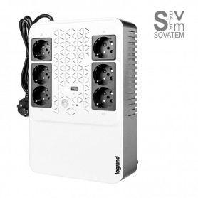 Gruppo di continuità UPS, keor 310082 caricatore USB, 800 va/480 W Bianco/Nero LEG310082BTICINO