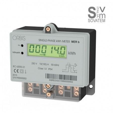 CONTATORI DI ENERGIA DA PARETE MONOFASE - ATTIVA - ORBIS MER B LCD 725001 230V OB725001ORBIS