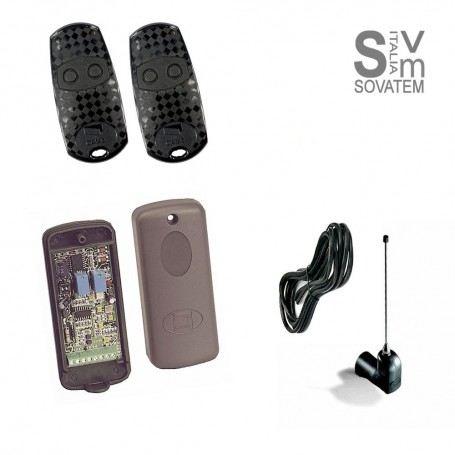 SISTEMA RADIO COMPLETO CAME TRA03 PER AUTOMAZIONE CON 2 TELECOMANDI CAMETRA03CAME