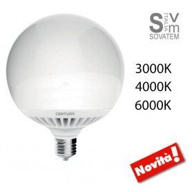 LAMPADA LED GLOBO CENTURY ARIA BOLD E27 24W LED 120W RESA 3000K - 4000K - 6000K GLOBO-CENTURYCENTURY
