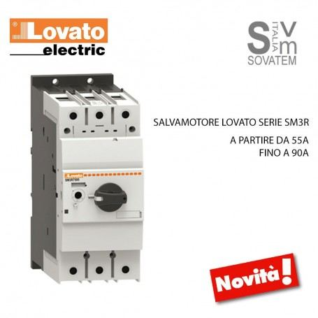 INTERRUTTORE SALVAMOTORE LOVATO ROTATIVO SERIE SM3R ICU A 400V DA 55A FINO A 90A SALVAMOTORE-SM3TLOVATO
