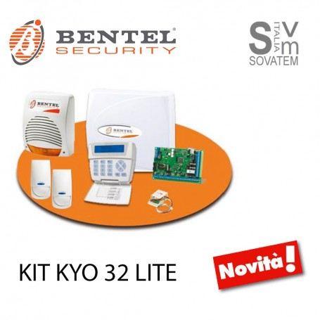 KIT ALLARME ANTIFURTO CENTRALE START BENTEL KYO32W KYO 32 + SENSORI + SIRENA KITKYO32LITEBENTEL