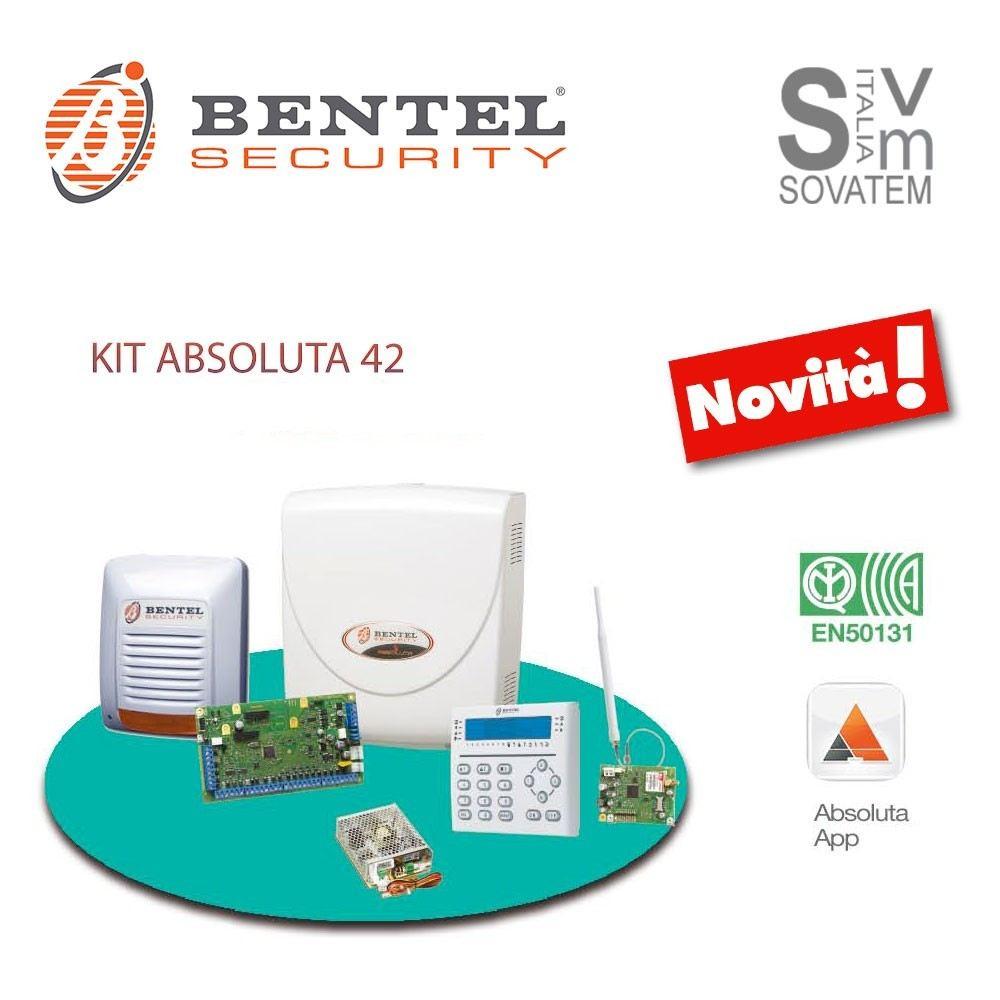 Bentel absoluta 42 kit antifurto allarme filare per for Bentel security absoluta