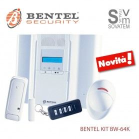 KIT COMPLETO BENTEL BW64-K ANTIFURTO WIRELESS CON SENSORE E CONTATTO 64 ZONE BW64-KBENTEL