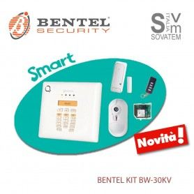 KIT COMPLETO BENTEL BW30-KV ANTIFURTO WIRELESS SENSORE CON TELECAMERA 30 ZONE BW30-KWBENTEL