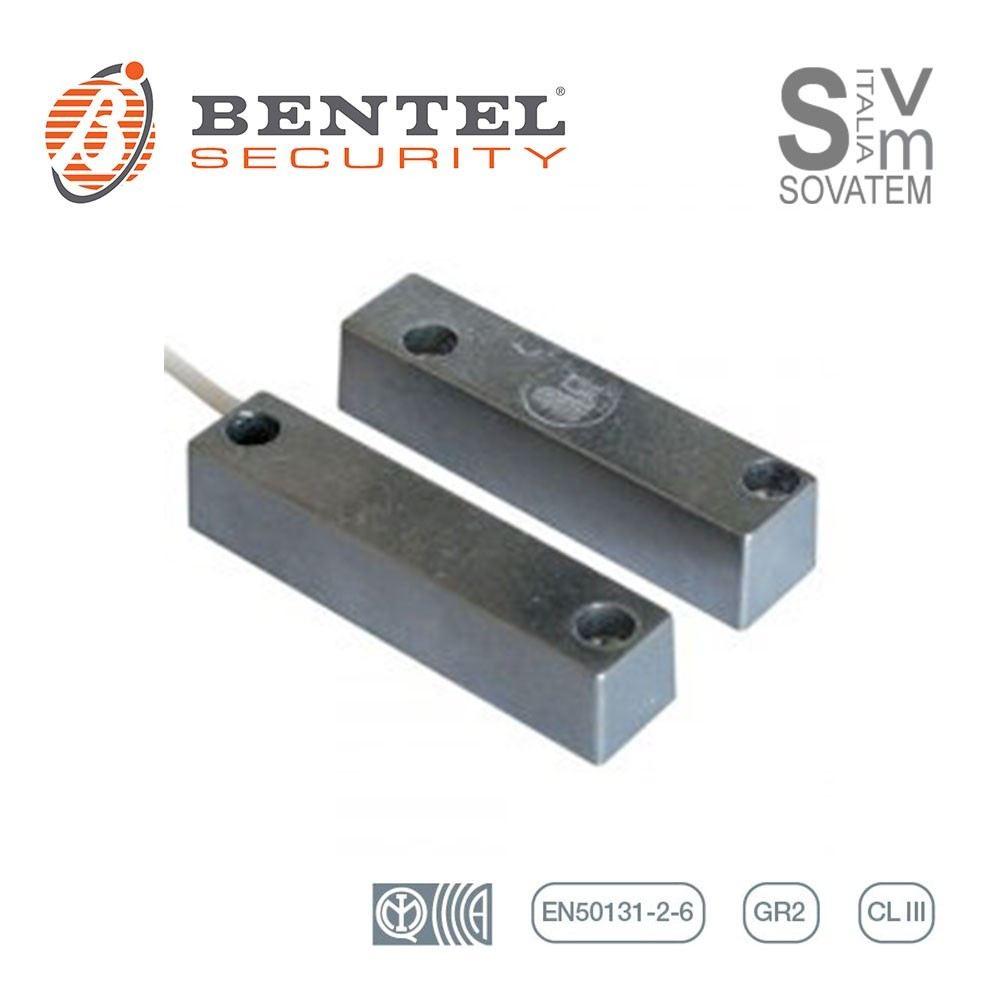 Contatto Magnetico Allarme Antifurto in Alluminio per Basculanti Serrande Garage