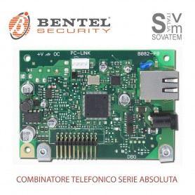 SCHEDA IP BENTEL ABS-IP PER CENTRALI DI ALLARME SERIE ABSOLUTA LAN/WAN A 128 bit ABS-IPBENTEL