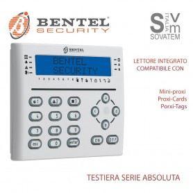 TASTIERA BENTEL T-WHITE LCD PER CENTRALE ALLARME ABSOLUTA CON LETTORE INTEGRATO T-WHITEBENTEL