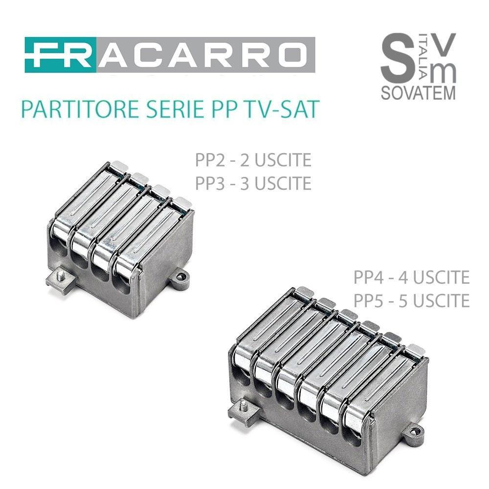 PARTITORE FRACARRO SERIE PP DA 2-3-4-5 USCITE METALLO SCHERMATO CONNETTORE VITE PARTITORE-PPFRACARRO