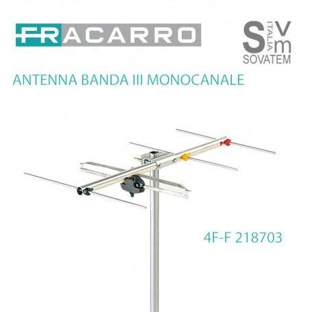 FRACARRO 4F ANTENNA VHF BANDA III MONOCANALE CONNETTORE F 218703FRACARRO