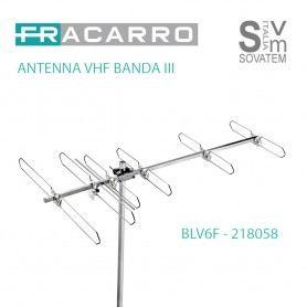 ANTENNA FRACARRO BLV6F 6 ELEMENTI VHF BANDA III CONNETTORE A F ELEVATO GUADAGNO 218058FRACARRO