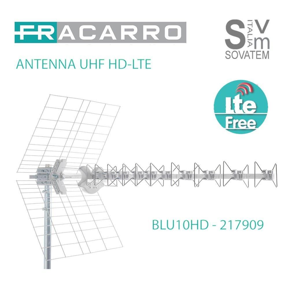 ANTENNA FRACARRO BLU10HDLTE UHF CON DIPOLO 10 ELEMENTI HD-LTE FILTRO SAW 217909 217909FRACARRO