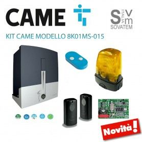 KIT CAME CANCELLO SCORREVOLE 8K01MS-003 24V 400 KG + COMPLETO DI 1 TELECOMANDI 8K01MS-015CAME