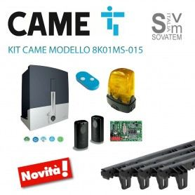 KIT CAME CANCELLO SCORREVOLE 8K01MS-003 24V 400 KG + COMPLETO 4 MT CREMAGLIERA 8K01MS-015+CGZSCAME