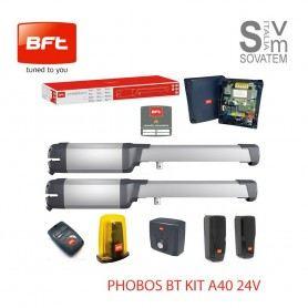 KIT CANCELLO BATTENTE BFT PHOBOS BTA40 R93530900004 AUTOMATISMO COMPELTO 24V 4mt R93530900004BFT