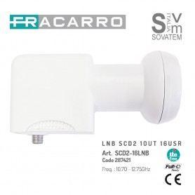 CONVERTITORE LNB FARCARRO 287421 SCD2 - SCR 16 CANALI 1 USCITA COMPATIBILE SKY-Q 287421FRACARRO