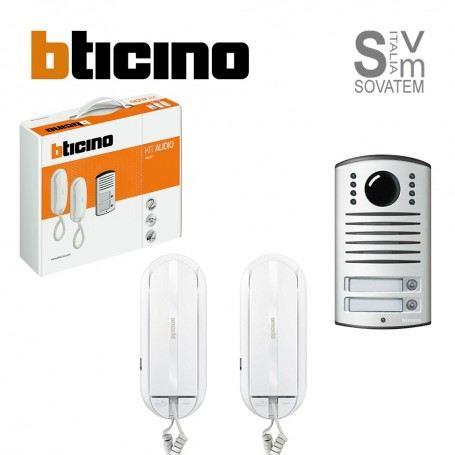Citofono Bticino Linea 2000.Kit Citofonico Bticino 366821 Bifamiliare 2 Fili Cornetta Sprint L2 Linea 2000