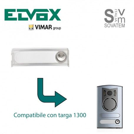TASTO AGGIUNTIVO ELVOX-VIMAR R131 - PER TARGA ESTERNA SERIE 1300 R131ELVOX