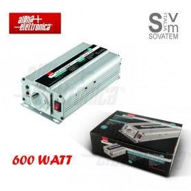 INVERTER ONDA MODIFICATA 600W INGRESSO 12Vdc TENSIONE USCITA 220V CAVI INCLUSI KINV0600Alpha Elettronica