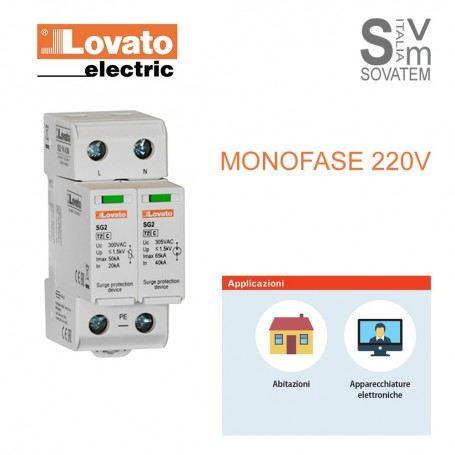 SCARICATORE DI SOVRATENSIONE MONOFASE LOVATO SG21NA300 TIPO-2 1P + N 220 VAC LOVSG21NA300LOVATO