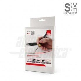 Kit saldatore USB con accessori inclusi adatto per piccole saldature in mobilità 98-315Alpha Elettronica