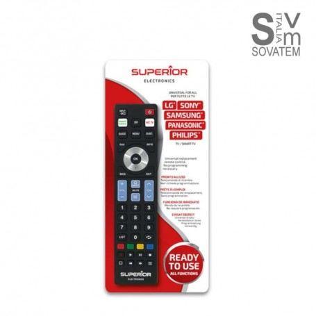 Telecomando universale smart 5 in 1 per tv samsung, lg, philips, sony, panasonic 559535050Superior