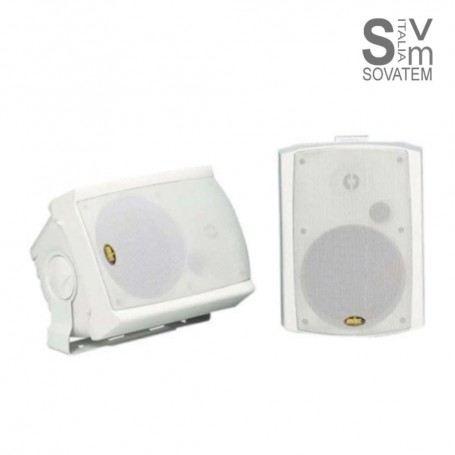 Coppia casse acustiche da esterno per filodiffusione potenza 30W Box Bianco 550718532MELCHIONI