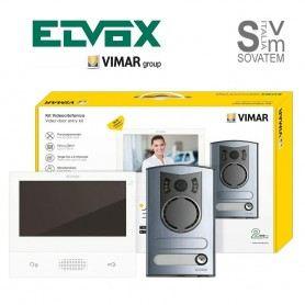 KIT VIDEOCITOFONO COLORI VIMAR ELVOX K40507/M MONOFAMILIARE 2 FILI CONNESSO WIFI VIWK40507/MELVOX