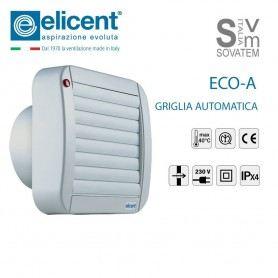 ASPIRATORE DIRETTO CON GRIGLIA AUTOMATICA ELICENT ECO-LINE DA 90mm 120mm e 150mm ASPIRATORE-ECO-LINEELICENT
