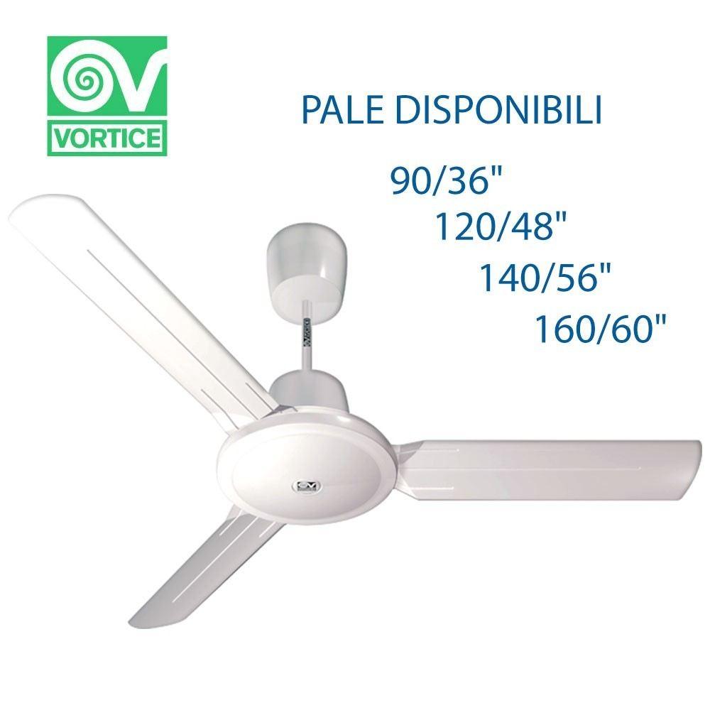 Vortice Lampadari A Pale.Ventilatore A Pale Vortice Nordik Evolution Da Soffitto Con Pale Da Tipologia Ventilatore Pale Da 90cm 61750