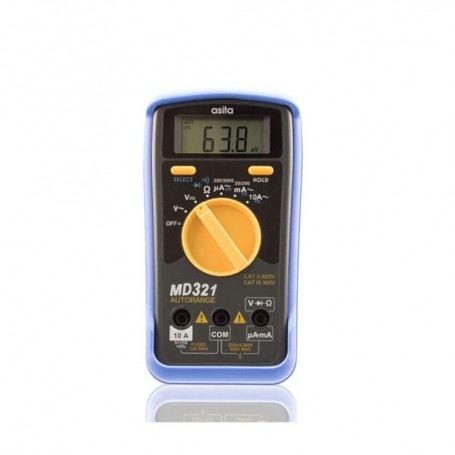 MULTIMETRO DIGITALE ASITA MD321 DISPLAY LCD PICCOLO ROBUSTO AC-DC MD321ASITA
