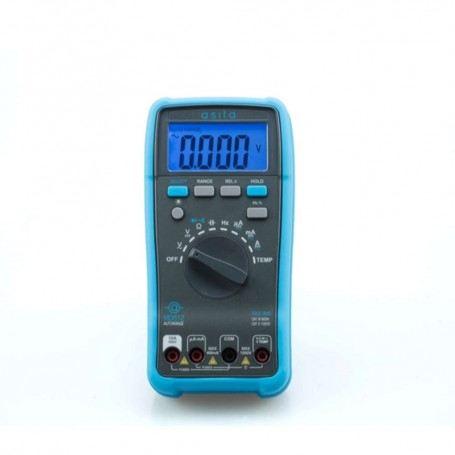 MULTIMETRO DIGITALE ASITA MD612 1000V 10A AC-DC DISPLAY LCD RETROILLUMINATO MD612ASITA