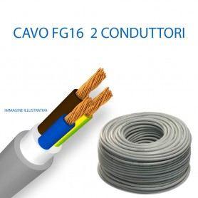 CAVO ELETTRICO FG16 BIPOLARE DIAMETRO 2x1,5-2x2,5-2x4-2x6 2X10 2X16 mmq AL METRO CEFG162000ITC